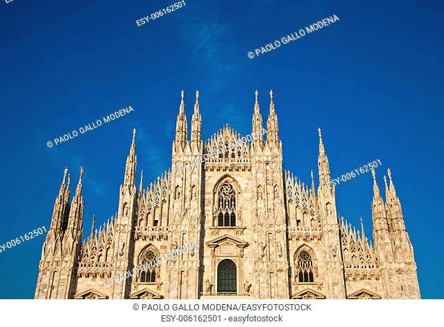 The Gothic cathedral took nearly six centuries to complete. It is the fourth largest cathedral in the world and by far the largest in Italy