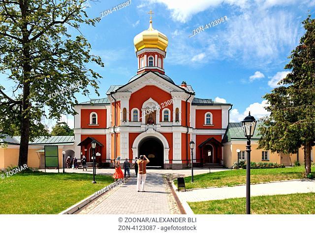 Russian orthodox church. Iversky monastery in Valdai, Russia