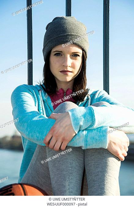 Portrait of young sportswoman