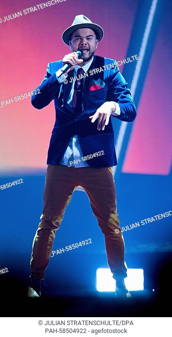 Guy Sebastian representing Australia performs during the second rehearsal of the Eurovision Song Contest 2015 in Vienna, Austria, 20 May 2015