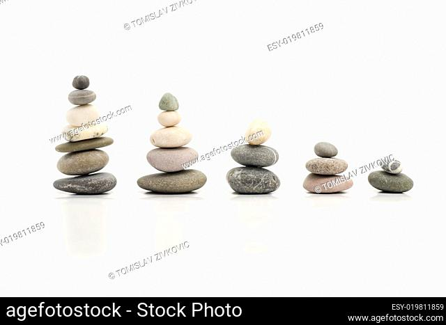 pebbles forming graph