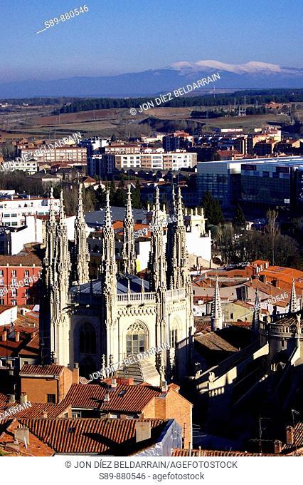 Templo católico de estilo gótico frances. Burgos. Castilla y León. España. Europa