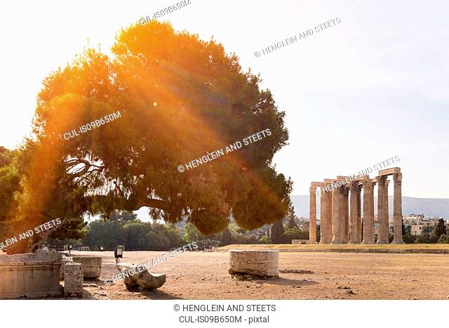 Ruins of olympieion, Athens, Attiki, Greece, Europe