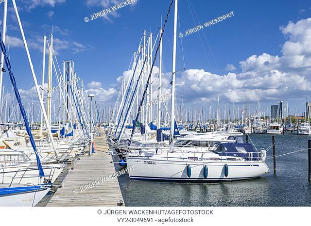 Marina, Heiligenhafen, Baltic Sea, Schleswig-Holstein, Germany, Europe