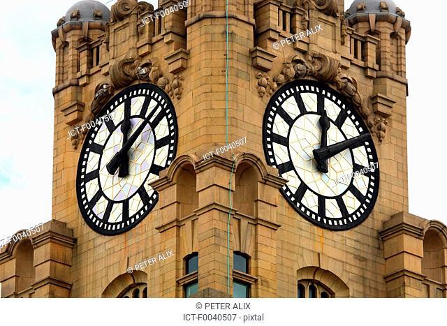 England, Liverpool, Royal Liver Building