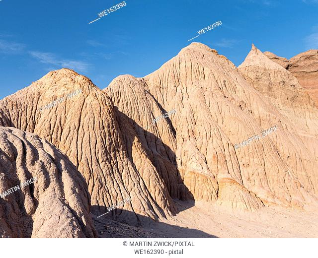 Quebrada de las Conchas also called Quebrada de Cafayate. A canyon with colorful rock formations created by Rio de las Conchas