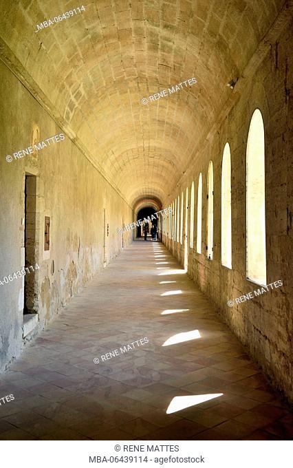 France, Gard, Villeneuve les Avignon, the Val de Benediction chartreuse, the cemetery cloister