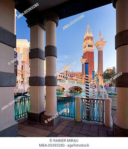 The Venetian Hotel, Strip, South Las Vegas Boulevard, Las Vegas, Nevada, USA