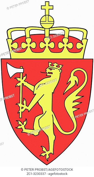 National coat of arms of the Kingdom Norway