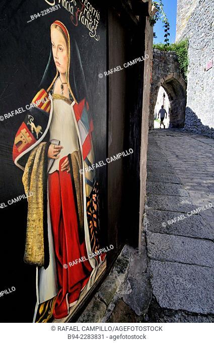 Medieval walls. Laredo. Cantabria. Spain