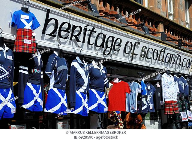Traditional clothing shop, Edinburgh, Scotland, Great Britain, Europe