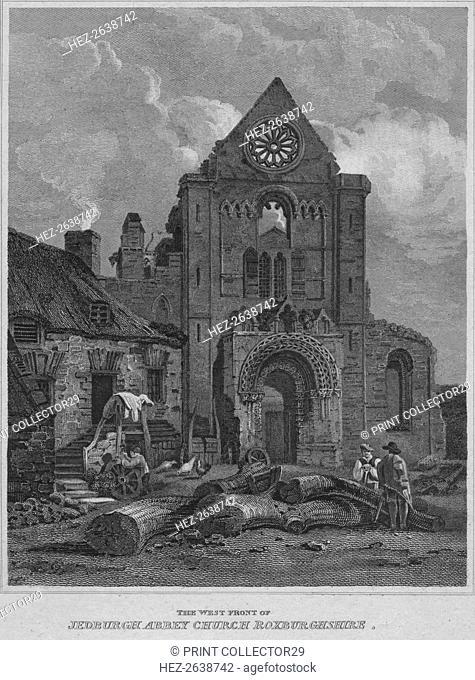 'The West Front of Jedburgh Abbey Church Roxburghshire', 1814. Artist: John Greig