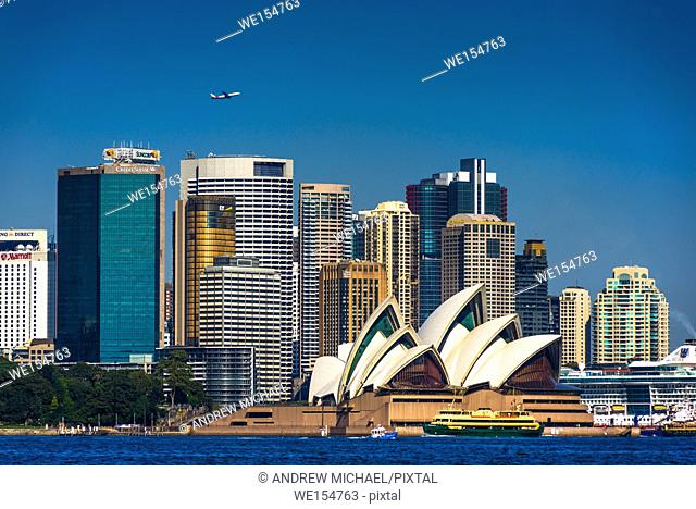 Sydney city skyline, New South Wales, Australia