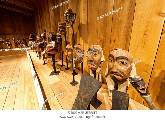 First Nations culture comes alive at the U'mista Cultural Centre where displays of priceless Kwakwaka'wakw masks and cultural icons are on display
