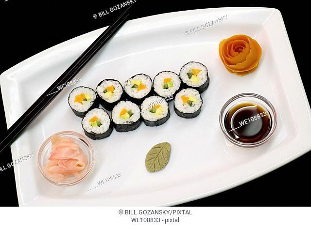 Gourmet Vegetable Sushi Plate - Hemingways Resort - Watamu, Kenya