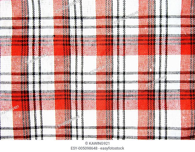 Red checkers cloth background