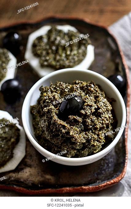 Tapenade with black olives