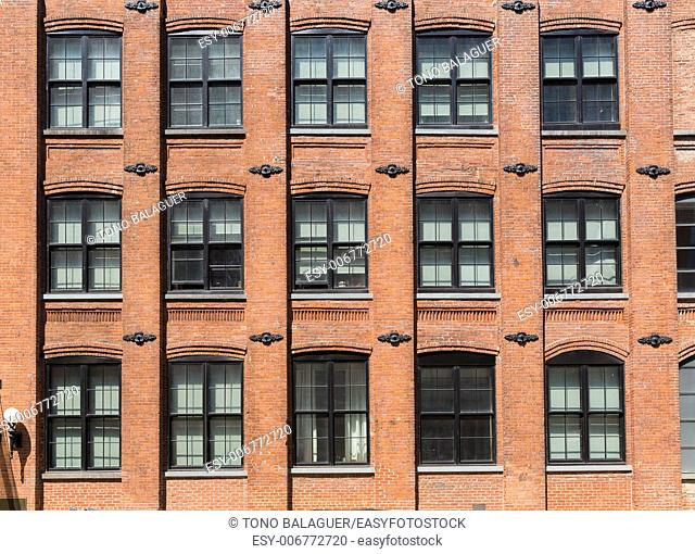 Brooklyn brickwall facades in New York US