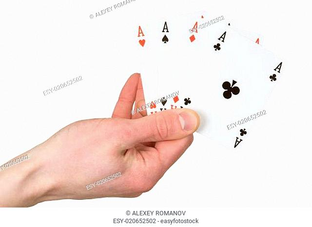 Four ace on the hand