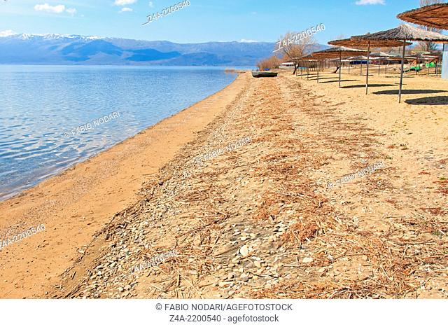 Beach of Dolno Dupeni in Macedonia, near Greece border