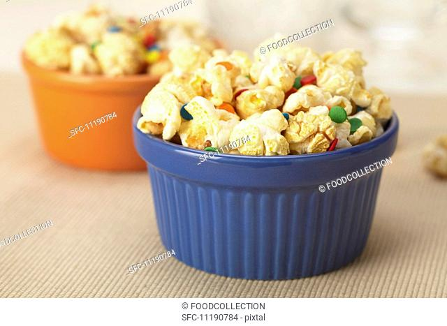Popcorn and Candy in Ramekins