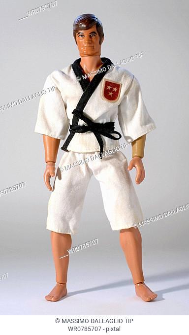 Toy human figure wearing gi