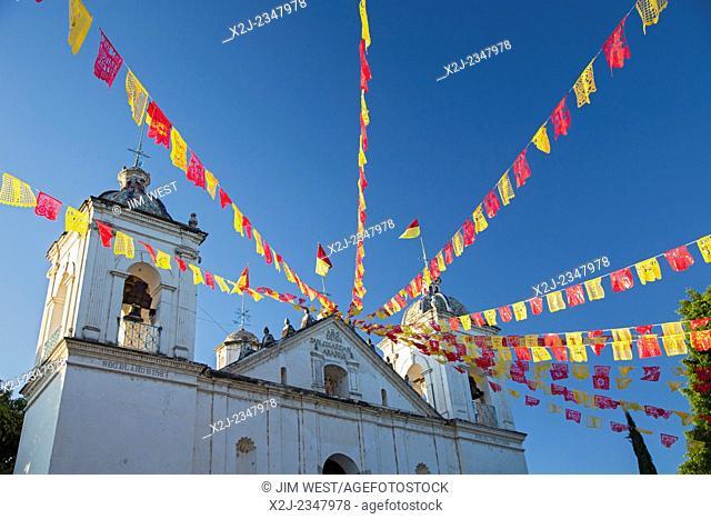 San Sebastian Abasolo, Oaxaca, Mexico - San Sebastian Abasolo Catholic church during the town's yearly celebration of San Sebastian, the town's patron saint