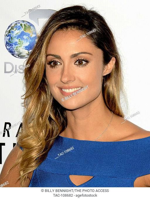 """Katie Cleary arrives at the Los Angeles premiere of the Discovery Channel's """"""""Racing Extinction"""""""" in West Hollywood"""