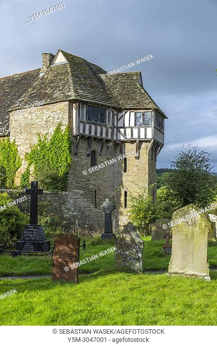Stokesay Castle a fortified manor house, Stokesay, Shropshire, England, United KIngdom, Europe