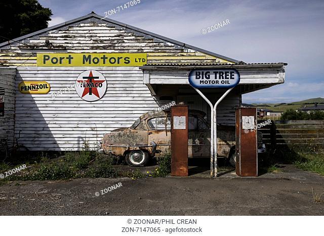 Abandoned petrol station