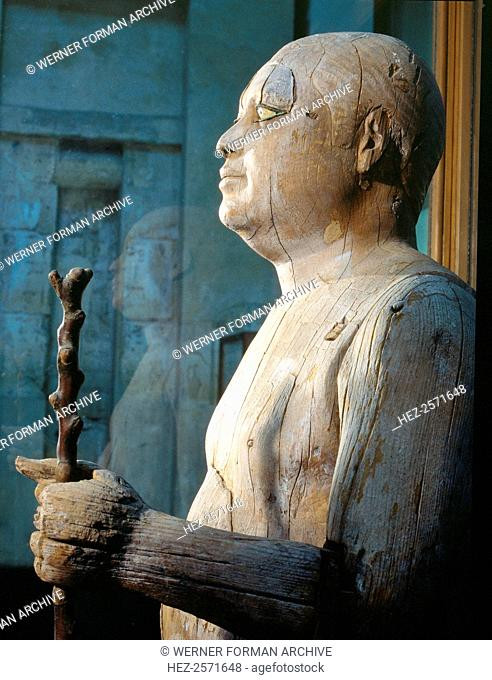 Probably the most celebrated private statue of the Old Kingdom, this wooden statue of Ka-Aper, also known as Sheikh el-Beled (Headman of the Village)