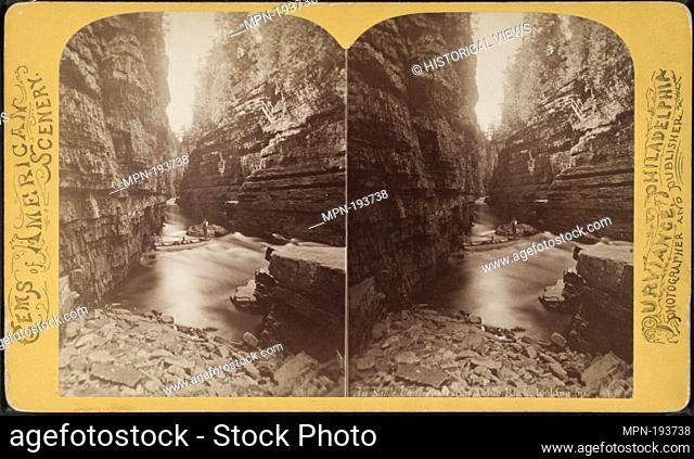 Au Sable Chasm. From Table Rock, looking up. Additional title: Gems of American scenery. Purviance, W. T. (William T.) (Photographer). Robert N