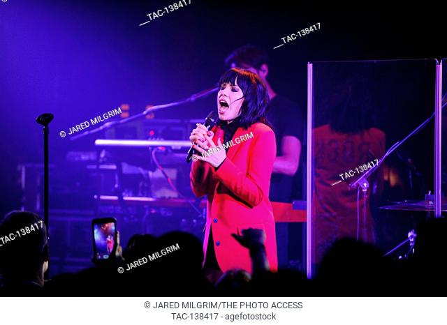 """Singer Carly Rae Jepsen performs at her """"""""Emotion"""""""" album release party at The Troubadour on August 24th, 2015 in West Hollywood, California"""