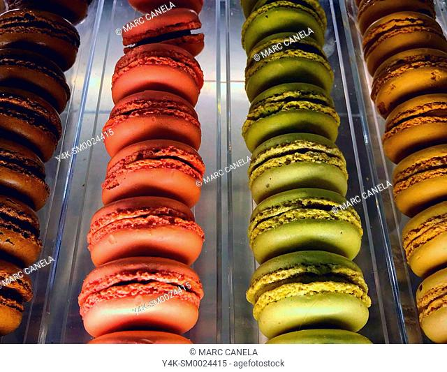 A macaron or macaroon is a sweet meringue-based confection made with egg white, icing sugar, granulated sugar, almond powder or ground almond, and food coloring