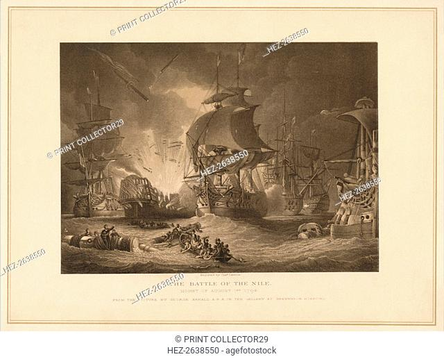 'The Battle of the Nile', 1798 (1878). Artist: Charles Lawrie
