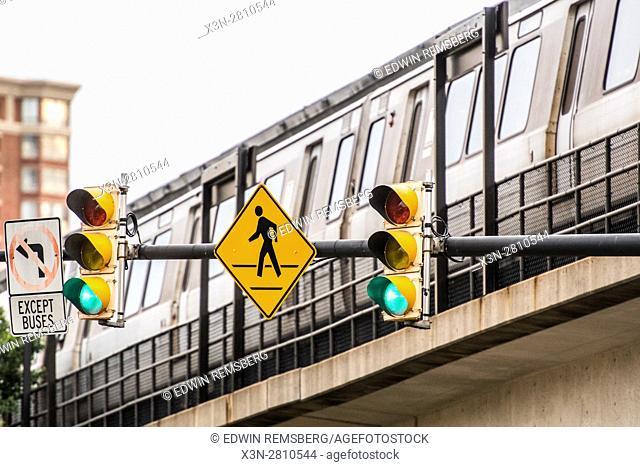 Traffic signals in Old Town Alexandria, Virginia
