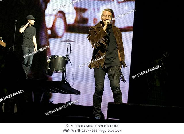 Macklemore and Ryan Lewis performing live in concert at the SSE Hydro at the SECC in Glasgow Featuring: Macklemore and Ryan Lewis Where: Glasgow, Scotland