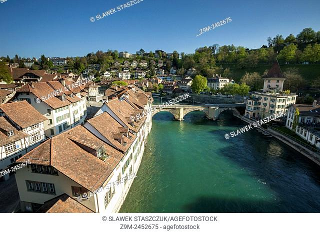 Morning in Bern, Switzerland. A view from Nydegg bridge