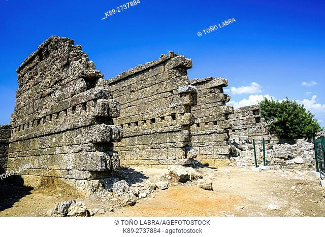 Aspendos Old Stores. Ancient Greece. Asia Minor. Turkey
