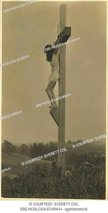 Jesus Christ, the Crucifixion in profile, platinum print photograph by F. Holland Day, 1898
