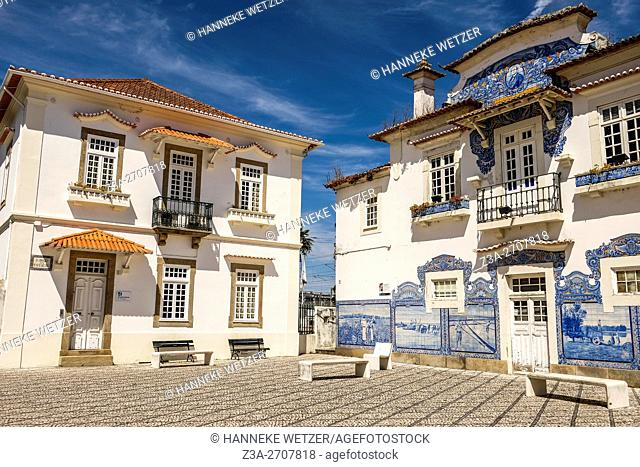 Central railway station in Aveiro, Portugal