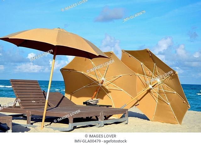 Beach Umbrellas, Hotel Setai, Miami, USA