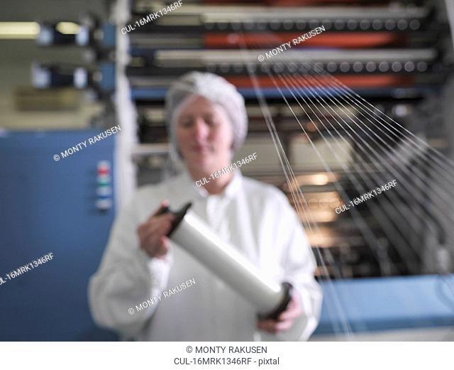 Technician Weaving Medical Product