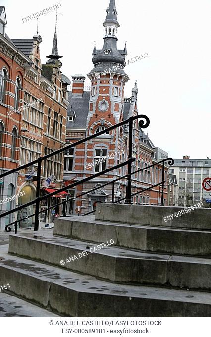 Stairs of Sint Pieterskerk Leuven Louvain Belgium