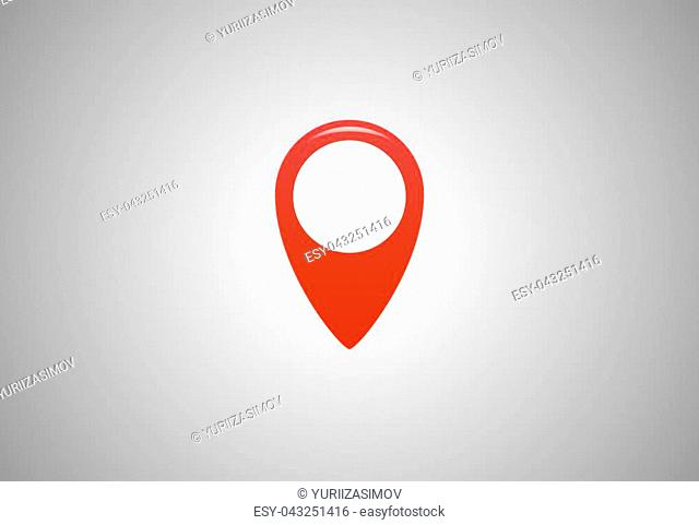 Map pin flat design style modern icon, GPS location symbol. pointer minimal vector symbol. Vector illustration