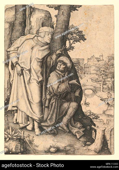 Susanna and the Two Elders. Artist: Lucas van Leyden (Netherlandish, Leiden ca. 1494-1533 Leiden); Date: ca. 1508; Medium: Engraving; Dimensions: sheet: 7 3/4 x...