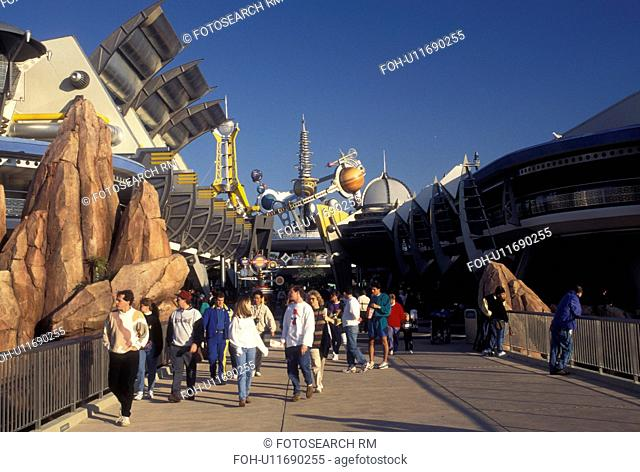 FL, Disney World, Orlando, Tomorrowland, Florida, Magic Kingdom, Lake Buena Vista, Tomorrowland in the Magic Kingdom at Walt Disney World in Lake Buena Vista