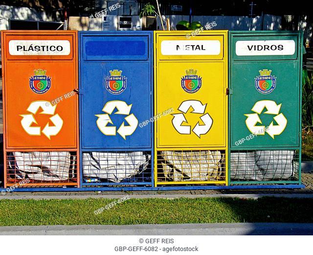 Recyclable bins, Sao Caetano do Sul, São Paulo, Brazil