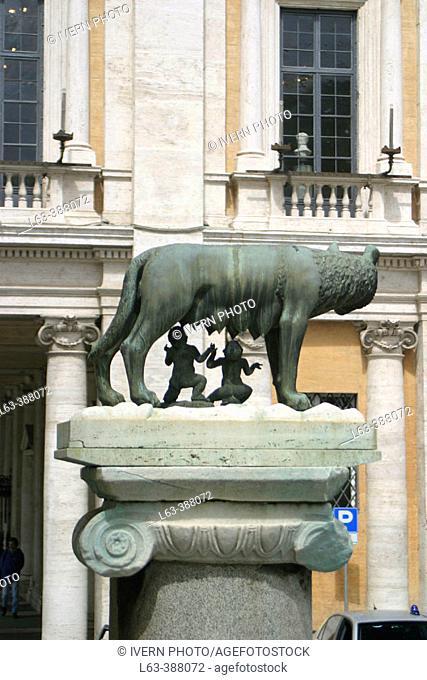 Capitoline Wolf. Piazza del Campidoglio. Rome. Italy