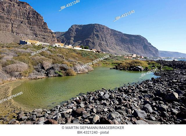 Nature Reserve Wetland Charco del Cieno, La Playa, Valle Gran Rey, La Gomera, Canary Islands Spain